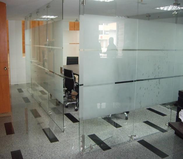 Vidrio Templado Ak 0121 Divisiones De Oficina En Vidrio